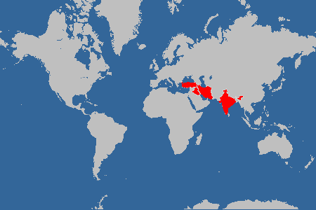 visited countries map